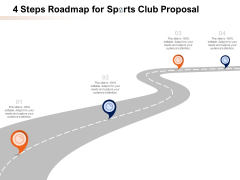 4 Steps Roadmap For Sports Club Proposal Ppt PowerPoint Presentation Infographic Template Designs PDF