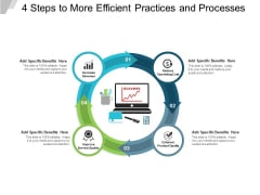 4 Steps To More Efficient Practices And Processes Ppt PowerPoint Presentation Slides Model