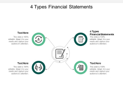 4 Types Financial Statements Ppt PowerPoint Presentation Pictures Show Cpb