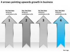 4 Arrows Pointing Upwards Growth Business Ppt Cheap Plan Writers PowerPoint Slides