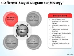 4 Different Staged Diagram For Strategy Ppt Import Export Business Plan PowerPoint Templates