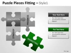 4 Factors Puzzle Pieces PowerPoint Slides Ppt Graphics
