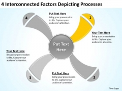 4 Interconnected Factors Depicting Processes Ppt Outline Business Plan PowerPoint Templates