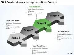 4 Parallel Arrows Enterprise Culture Process Ppt Drafting Business Plan PowerPoint Templates