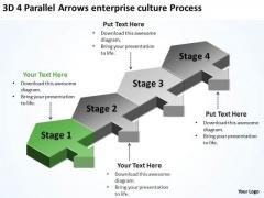 4 Parallel Arrows Enterprise Culture Process Ppt How Do Make Business Plan PowerPoint Slides