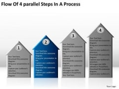 4 Parallel Steps In Process Small Business Plan Templates PowerPoint