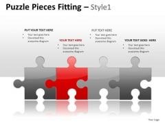 4 Puzzle Pieces Fitting 1 PowerPoint Slides And Ppt Diagram Templates