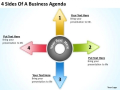 4 Sides Of A Business PowerPoint Presentations Agenda Simple Plans Templates
