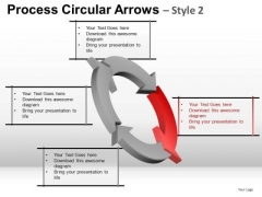 4 Stage Cycle Diagram PowerPoint Slides With Editable Process Arrows