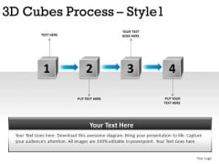 4 Stage Process Flowchart PowerPoint Diagram And Ppt Slides