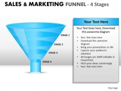 4 Stage Sales And Marketing Funnel PowerPoint Slides And Ppt Diagram Templates