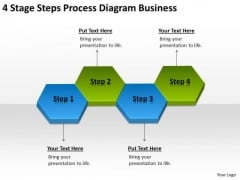 4 Stage Steps Process Diagram Business Ppt Help Writing Plan PowerPoint Templates