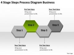 4 Stage Steps Process Diagram Business Ppt Plan PowerPoint Slides