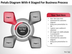 4 Staged For Business Process Ppt Free Printable Plans PowerPoint Templates
