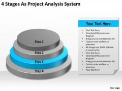 4 Stages As Project Analysis System Ppt Barber Shop Business Plan PowerPoint Templates