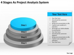 4 Stages As Project Analysis System Ppt Business Plan PowerPoint Templates