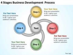 4 Stages Business Development Process Plan PowerPoint Templates