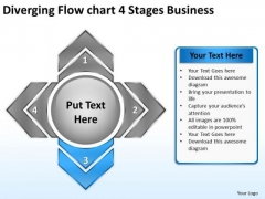 4 Stages Business PowerPoint Templates Free Download Ppt Circular Layout Chart Slides