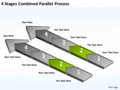 4 Stages Combined Parallel Process Buy Business Plans PowerPoint Templates