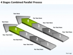 4 Stages Combined Parallel Process Ppt Restaurant Business Plan Outline PowerPoint Templates