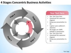 4 Stages Concentric Business Activities Ppt Professional Plans PowerPoint Templates