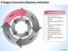 4 Stages Concentric Business Activities Ppt Sample Plan PowerPoint Templates