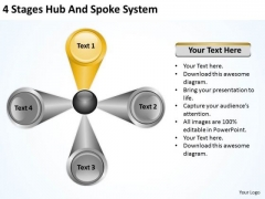 4 Stages Hub And Spoke System Agricultural Business Plan PowerPoint Templates