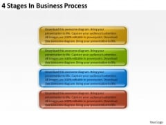 4 Stages In Business Process Plans Templates For PowerPoint Slides