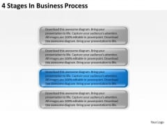 4 Stages In Business Process Ppt Simple Plan PowerPoint Templates