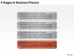 4 Stages In Business Process Ppt Template PowerPoint Templates
