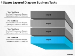 4 Stages Layered Diagram Business Tasks Ppt Making Plan PowerPoint Templates