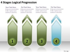 4 Stages Logical Progression Ppt Sba Business Plan Template PowerPoint Templates