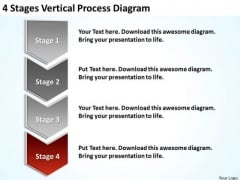 4 Stages Vertical Process Diagram Ppt Business Plan PowerPoint Templates