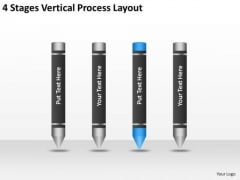4 Stages Vertical Process Layout Ppt Business Plan PowerPoint Templates