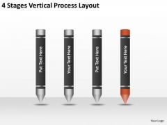 4 Stages Vertical Process Layout Ppt Who Writes Business Plans PowerPoint Templates