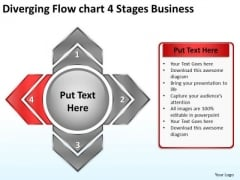 4 Stages World Business PowerPoint Templates Circular Arrow Diagram