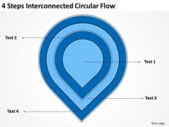 4 Steps Interconnected Circular Flow Business Plans How To Write PowerPoint Templates
