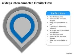 4 Steps Interconnected Circular Flow Ppt How To Write Business Plan PowerPoint Templates