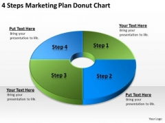 4 Steps Marketing Plan Donut Chart Business Guidelines PowerPoint Slides