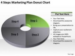 4 Steps Marketing Plan Donut Chart Ppt Business Format PowerPoint Slides