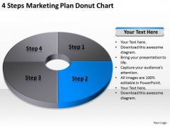 4 Steps Marketing Plan Donut Chart Ppt How To Business Plans PowerPoint Templates