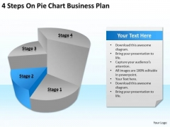 4 Steps On Pie Chart Business Plan Ppt Retail PowerPoint Templates