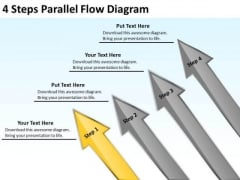 4 Steps Parallel Flow Diagram Computer Repair Business Plan PowerPoint Slides
