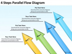 4 Steps Parallel Flow Diagram How Do Write Business Plan Free PowerPoint Templates