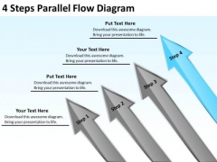 4 Steps Parallel Flow Diagram Ppt Need Business Plan PowerPoint Templates
