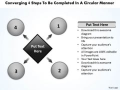 4 Steps To Be Completed In A Circular Manner Cycle Arrow Diagram PowerPoint Templates