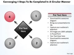 4 Steps To Be Completed In A Circular Manner Diagram PowerPoint Slides