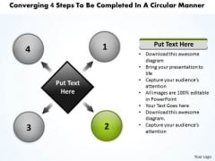 4 Steps To Be Completed In A Circular Manner Flow Diagram PowerPoint Slides