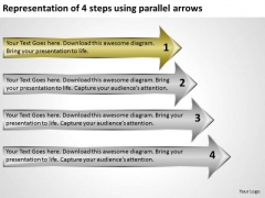 4 Steps Using Parallel Arrows Business Planning Templates PowerPoint