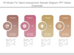 4p Model For Talent Assessment Sample Diagram Ppt Slides Download